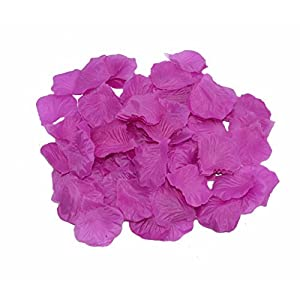 Shenglong 5000 Silk Rose Artificial Petals Supplies Wedding Decorations -Purple 2