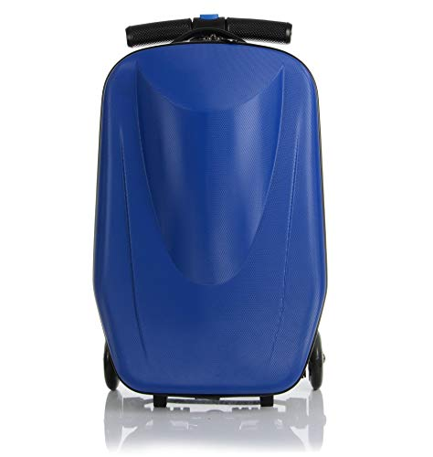 20 inch Scooter Suitcase Ride-on Travel Trolley Luggage for Travel, School and ()