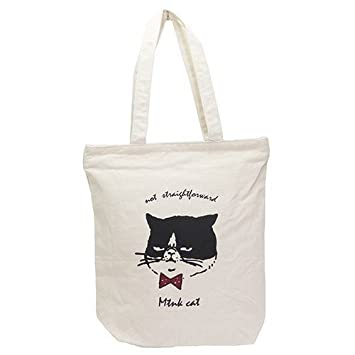173ec4492c Mintin Simple tote bag Matsu Cat Black & white from Japan: Amazon.ca: Home  & Kitchen