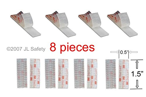 8-Strips, Original 3M clear Toll Tape E-ZPass Mounting Strips Replacement from JL Safety. 1.5
