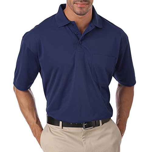 Blue Generation BG-1052 - Adult Pocketed IL-50 Polo (6XL, Navy)