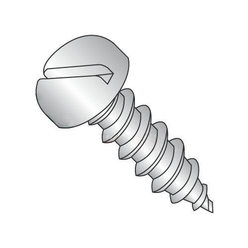 #10 x 1 Type A Self-Tapping Screws/Slotted/Pan Head/18-8 Stainless Steel (Carton: 2,000 pcs) 41i8vvb6cBL