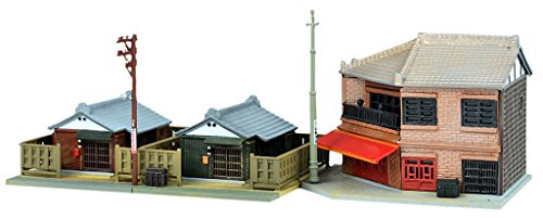 Tomytec diorama collection building collection 110-3, two-story corner food store 3 diorama supplies