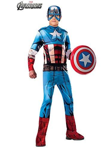 DISBACANAL Disfraz de Capitán América Classic Infantil - Único, 5 ...