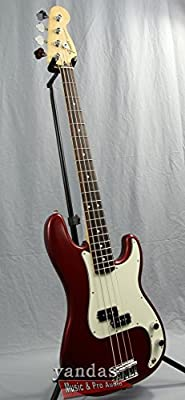 Fender Standard Precision Electric Bass Guitar -Rosewood Fingerboard, Arctic White by Fender Musical Instruments Corp.