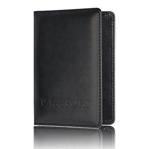 Souple Passeport Passeport Visite Voyage Protecteur De Titulaire Passeport Noir Couverture Carte Portefeuille Trydoit 0qHx8dq