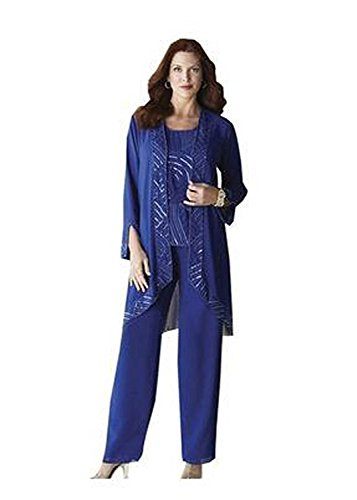 Kelaixiang-Blue-Chiffon-with-Sequins-Mother-Pant-Suits-3-Pieces