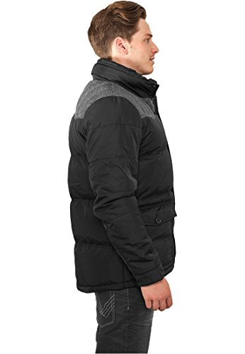 Material Mixed Winter Jacket blk/gry L