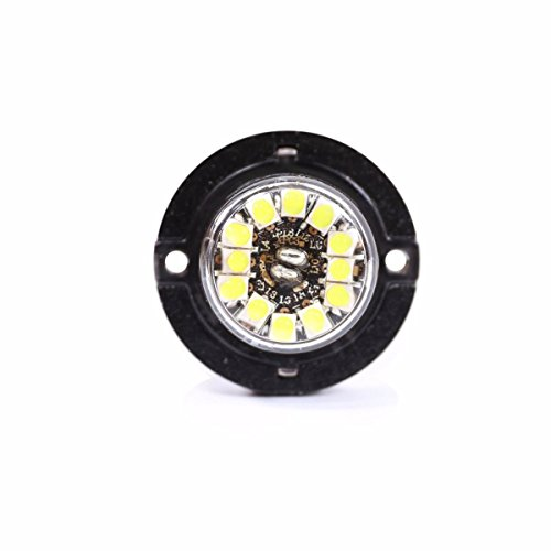 Abrams SAE Class-1 Blaster 120 (White/White) 36W - 12 LED Emergency Vehicle Truck LED Hideaway Surface Mount Strobe Warning Light ()
