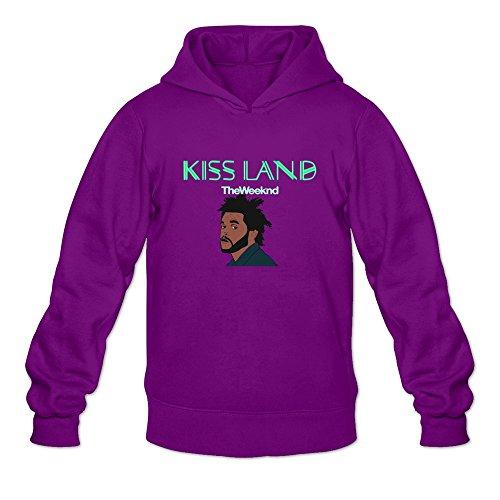 DASY Men's O-neck Xo The Weeknd Hoodies Purple - Blanket Xo Weeknd The