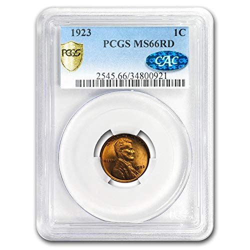 1923 Lincoln Cent MS-66 PCGS CAC (Red) Copper MS-66 PCGS