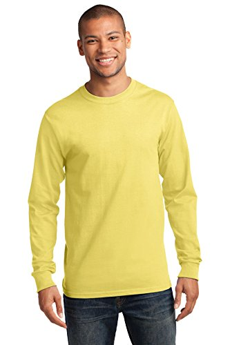 Yellow Port (Port & Company Men's Long Sleeve Essential T Shirt 3XL Yellow)