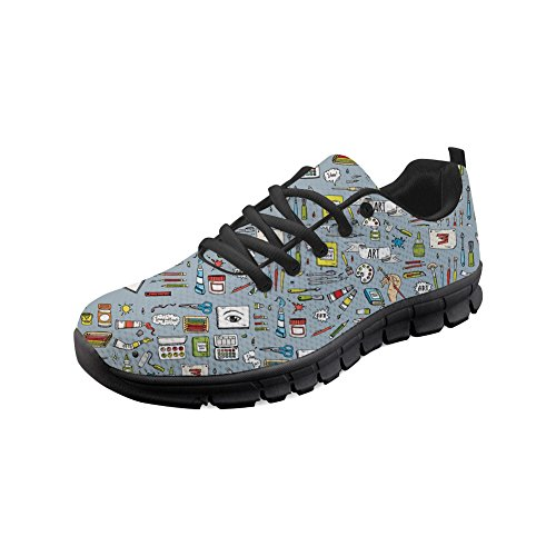 Skid Ladies Women Breathable Art Fine Sneaker Fashion Sport Showudesigns Running Anti Shoes for UBTZX