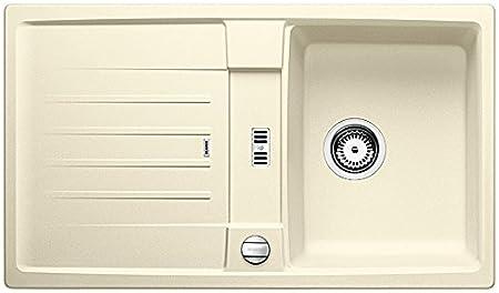 1 St/ück felsgrau 518866 Blanco Lexa 9 E Granitsp/üle aus Silgranit PuraDur K/üchensp/üle