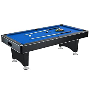 Hathaway Hustler Pool Table, Blue, 7-Feet