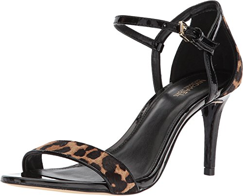 Michael Michael Kors Women's Simone Mid Sandal Natural/Black 8 M US