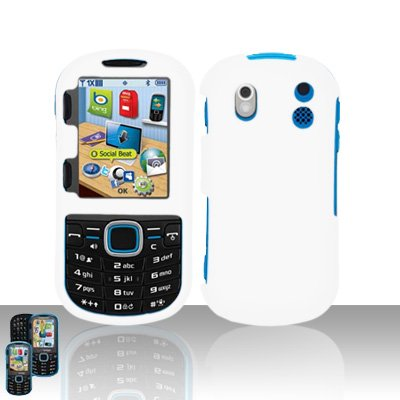 - Importer520 Rubberized Snap-On Hard Skin Protector Case Cover for For (Verizon) Samsung Intensity 2 U460 - White
