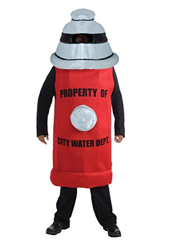 Forum Novelties Men's Fire Hydrant Adult Costume, Red, Standard