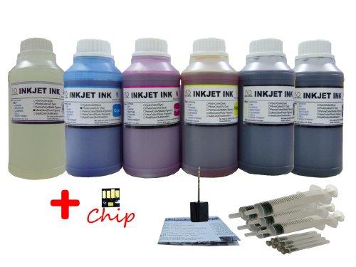 ND ™ Brand Dinsink: 6X10oz (PK BK C M Y GO) dye refill in...
