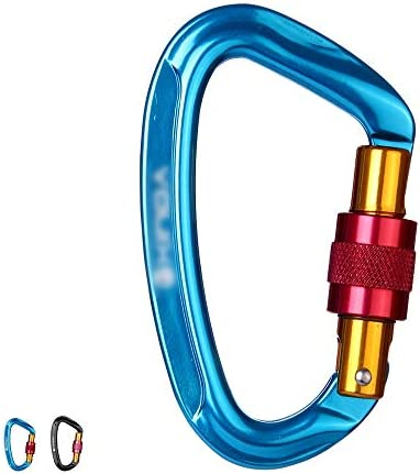 JPAKIOS 屋外ロッククライミングバックルメインロック登山メインロック高速ぶら下げD型メインロッククライミングメインロックシャックル (色 : 青)