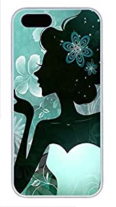 iPhone 5 5S Case Girly Figure PC Custom iPhone 5 5S Case Cover White