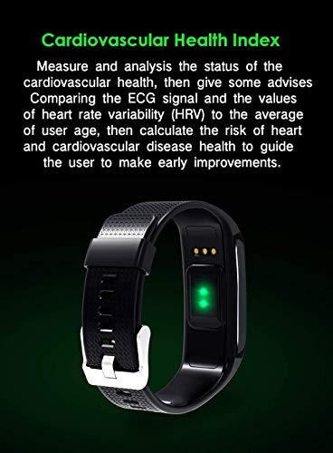 Smart Wristbands Watch Fitness Tracker Blood Pressure Heart Rate Monitor IP67 Waterproof Fitness Tracker Pedometer Sport Bracelet (Black) … by Verna (Image #4)