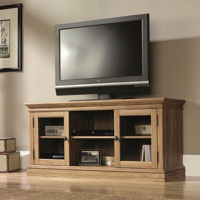"Greig 60"" TV Stand, Adjustable center shelf holds audio/visual equipment"