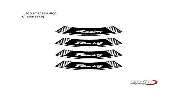 Pro Braking PBR9660-WHT-GOL Rear Braided Brake Line White Hose /& Stainless Gold Banjos