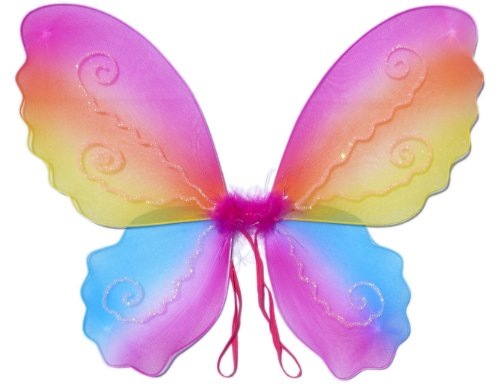 Butterfly Wing / Fairy Wing Costume for Girls – Rainbow (Tinkerbell Costume Cheap)