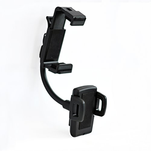 Universal Car Rear View Mirror Mount Stand Holder For Smartphone - 3