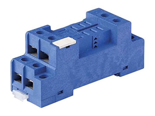 Socket for 56.32 relay Plate Clamp blue Finder 96.72 DIN -Rail//Panel Mount screw terminal