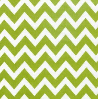 Lime Green Medium Chevron Zig Zag Fabric by The Yard from Robert Kaufman's Remix Collection 100% Cotton -