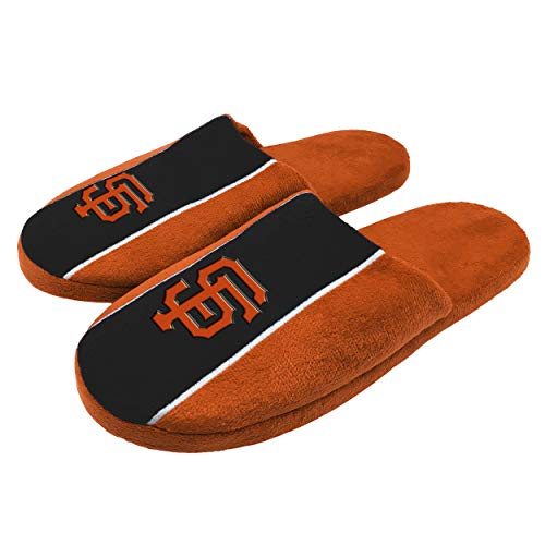 FOCO MLB San Francisco Giants Big Logo Stripe Slipper - Large