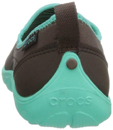 Crocs Duet Busy Day Skimmer, Women's Trainers Brown (Espresso/Island Green)