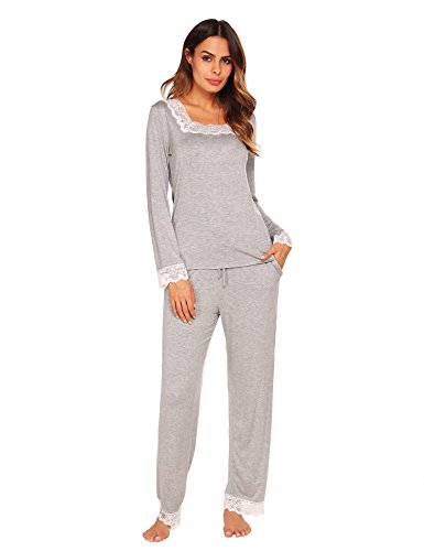 Ekouaer Women's Soft Pima Cotton Women's Pajama Set - Pima Cotton Pajamas