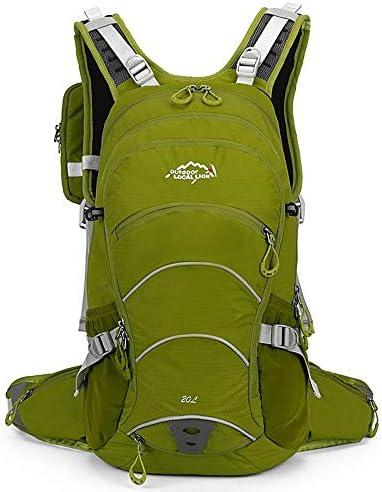 サイクリングバックパック 軽量スポーツデイパック屋外水分補給バックパックサイクリングリュックサックサイクリングバックパック用ランニング、サイクリング、キャンプ20L (Color : Army Green, Size : 48*27*16m)