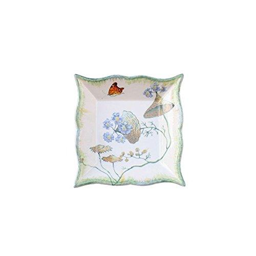 Faïencerie de Niderviller  Botanische Folien – rel6626, Cafeti&eGröße;re Renaissance  Vide-poches carré