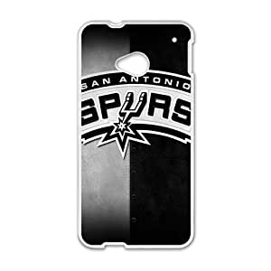 Happy San Antonio Spurs Fahionable And Popular Back Case Cover For HTC One M7