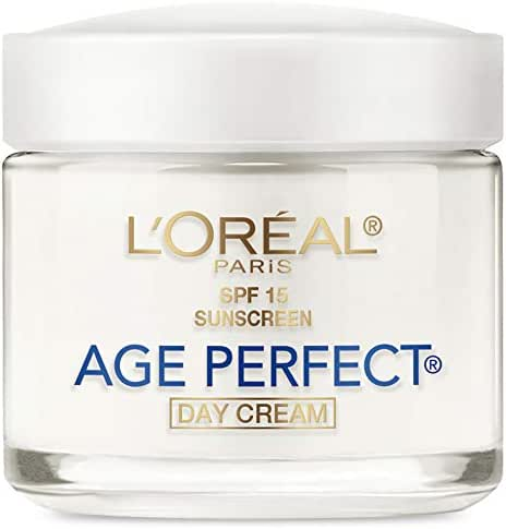 Face Moisturizer with SPF 15 by L'Oreal Paris Skin Care, Age Perfect Anti-Aging Day Cream with SPF 15 Sunscreen & Soy Seed Proteins, 3.4 oz.