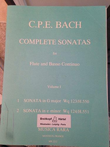 Complete Sonatas for Flute and Basso Continuo, Vol. 1: Sonata in G Major Wq 123/H.550; Sonata in E Minor Wq 124/H.551 ()