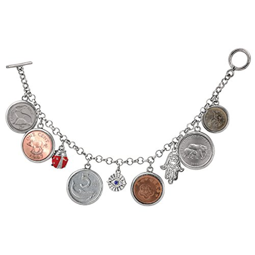 American Coin Treasures Lucky Coin Charm Toggle - Coin Lucky Bracelet