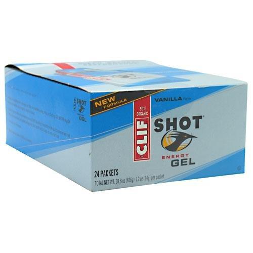 Clif Shot Gel Vanilla, 24 - 1.2 oz. packets,  28.8 ozs.