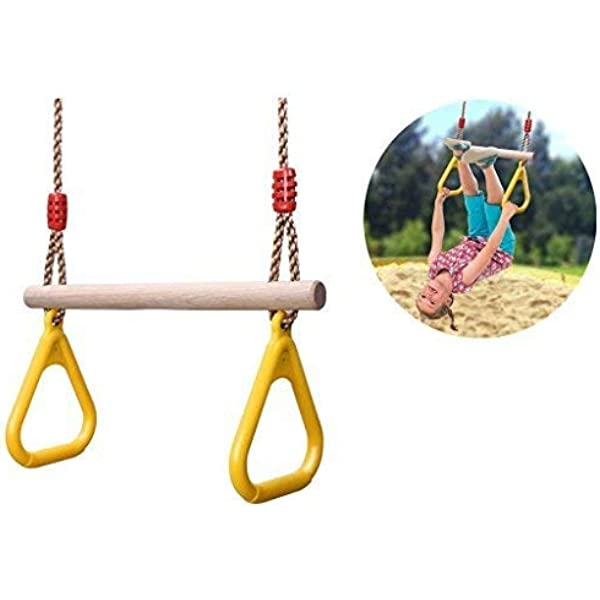 Kids Swing Rings Playground Equipment Trapeze for Climbing Frames Gymnastics