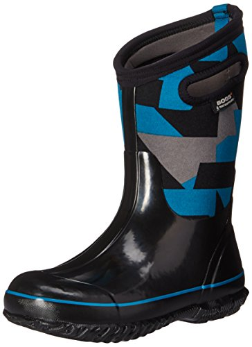 Price comparison product image Bogs Classic High Waterproof Insulated Rubber Neoprene Rain Boot Snow, Geo Print/Black/Multi, 13 M US Little Kid
