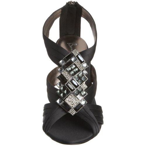 Bourne Womens Ha Disegnato Sandalo Con Cinturino A Tacco Nero