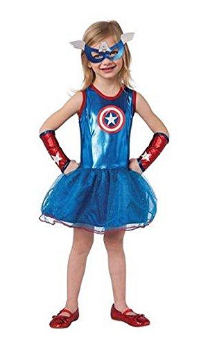 Captain America Avengers Costume Tutu Dress/Mask Toddler