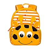 Yeelan Waterproof Kids Backpack Nursery Bag Children Rucksack Toddler School Daypack for Preschool Kindergarten School Travel etc (Striped Lion,Neoprene)