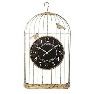 Amelie Vintage Hierro Birdcage reloj 158cm jaula en invernadero. Reloj de montaje de pared para garaje perfectamente Brightening 158hierro Vintage