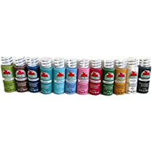 Acrylic Paint - Apple Barrel 12 pack of assorted colors - 2 oz. each