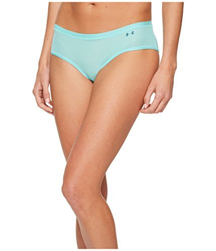 Under Armour Women's Power In Pink Pure Stretch Hipster Underwear, Tropical Tide/Tourmaline Teal, Small